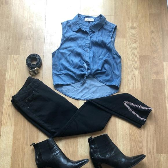 Talula Tops - Talula Mulholland Button Up Sleeveless Blouse